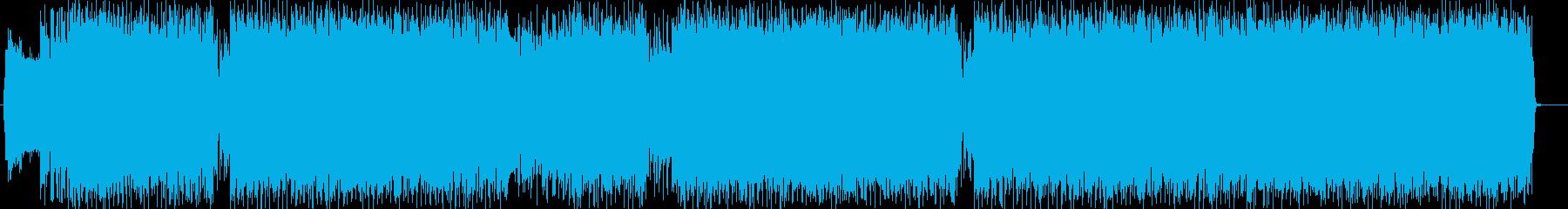 クールでワイルドな洋風エレキロックの再生済みの波形