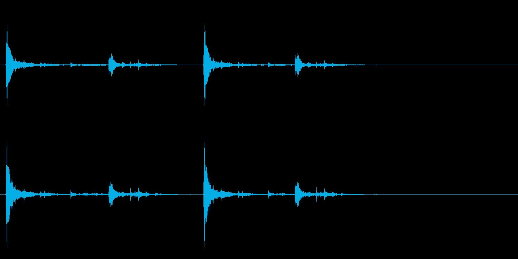 掘る音の再生済みの波形