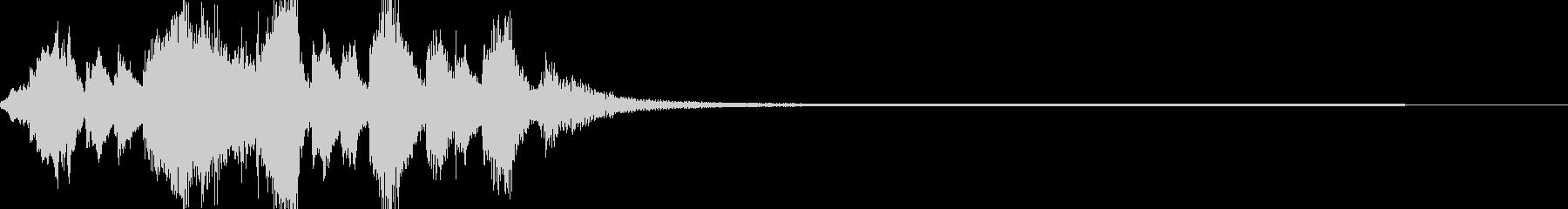 ホラーでコミカルなジングルの未再生の波形