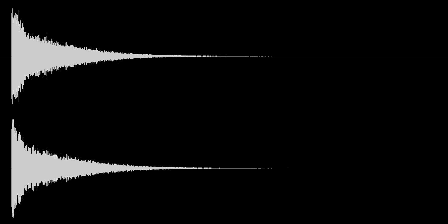 パーン/破壊/撃破/爆発/クールの未再生の波形