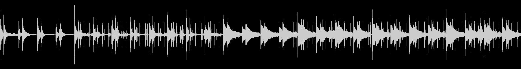 夜のくつろぎピアノビート(ループ仕様)の未再生の波形