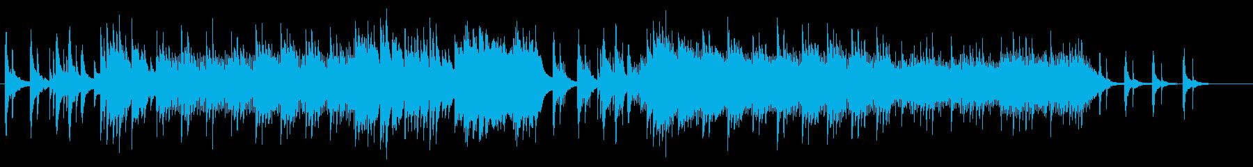 雪と桜を表現したピアノ独奏曲の再生済みの波形