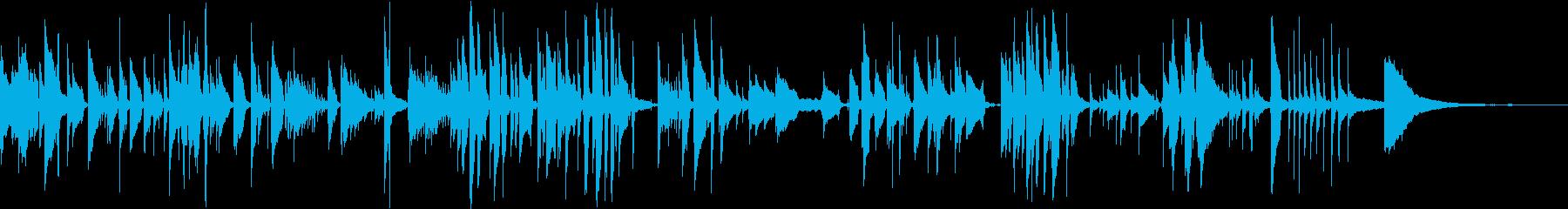 名曲「ふるさと」のソロギターアレンジの再生済みの波形