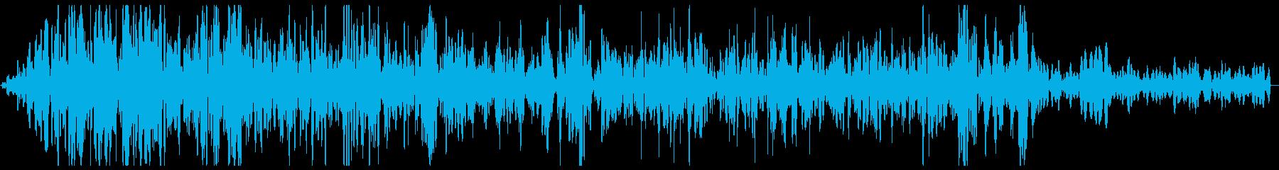 グツグツ煮る音の効果音の再生済みの波形