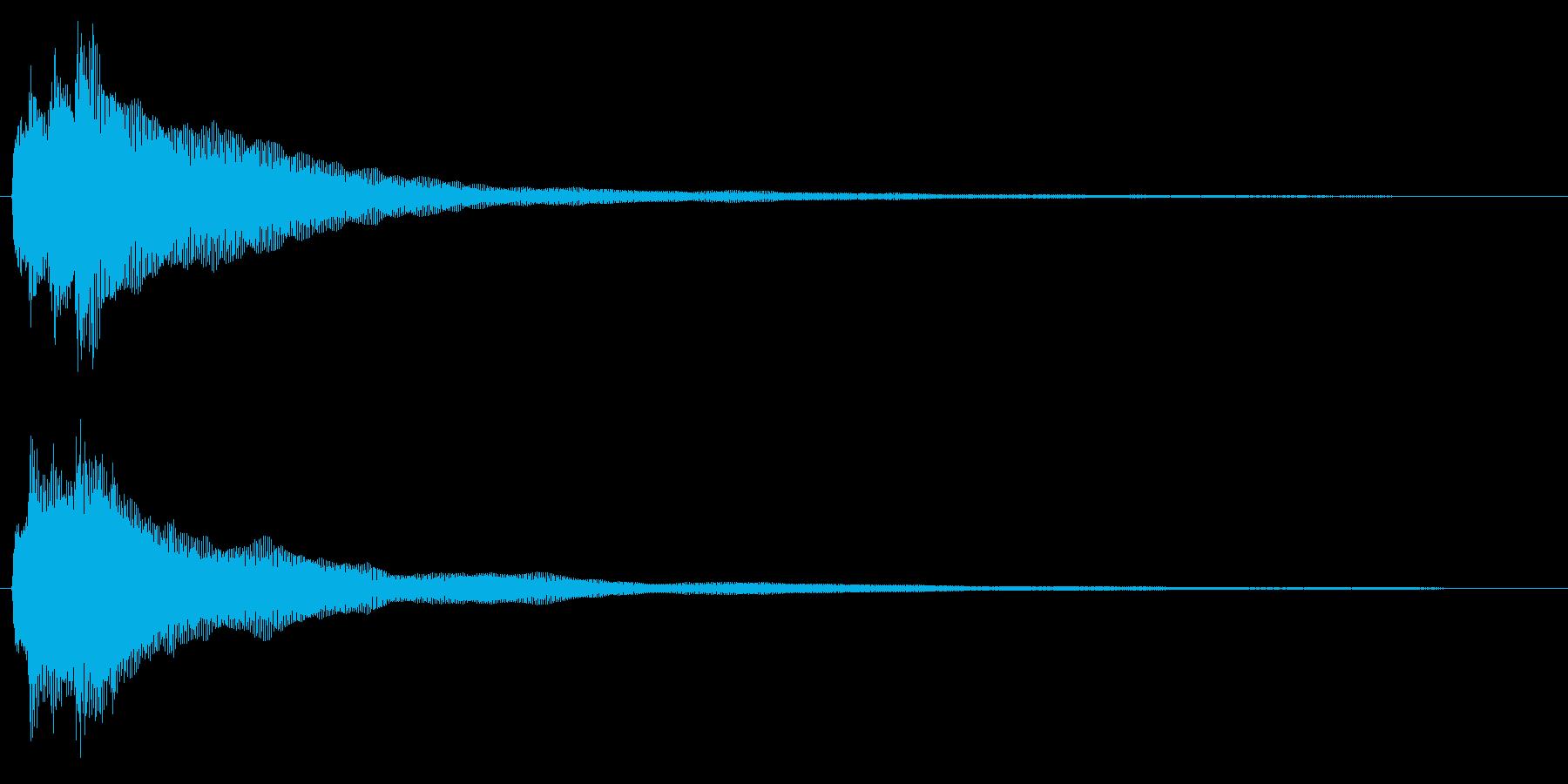 チャラララーン↑(ハープ、爽やか)の再生済みの波形