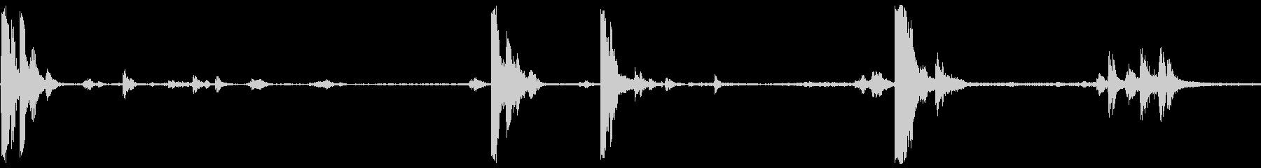 タンクシェルケーシングドロップの未再生の波形