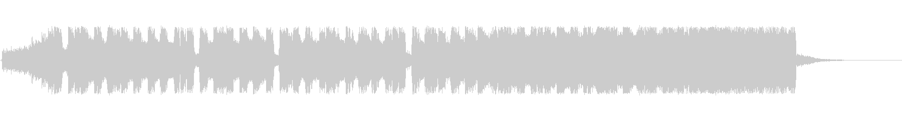 チップチューンの明るいファンファーレの未再生の波形