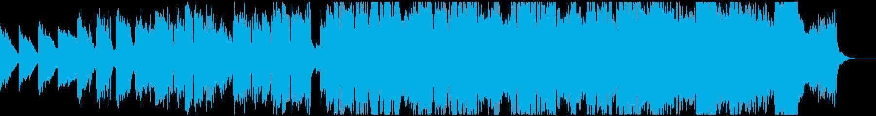 フルートとストリングスの明るく前向きな曲の再生済みの波形