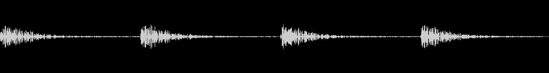 ファミコンの階段の音の未再生の波形