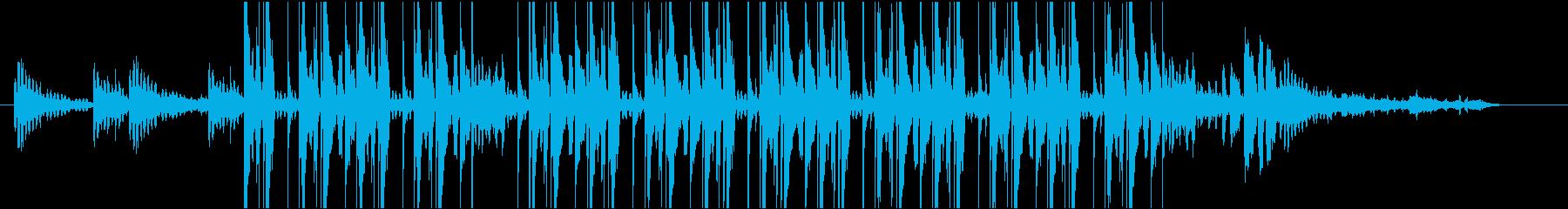 リラックスできるChillHop風BGMの再生済みの波形