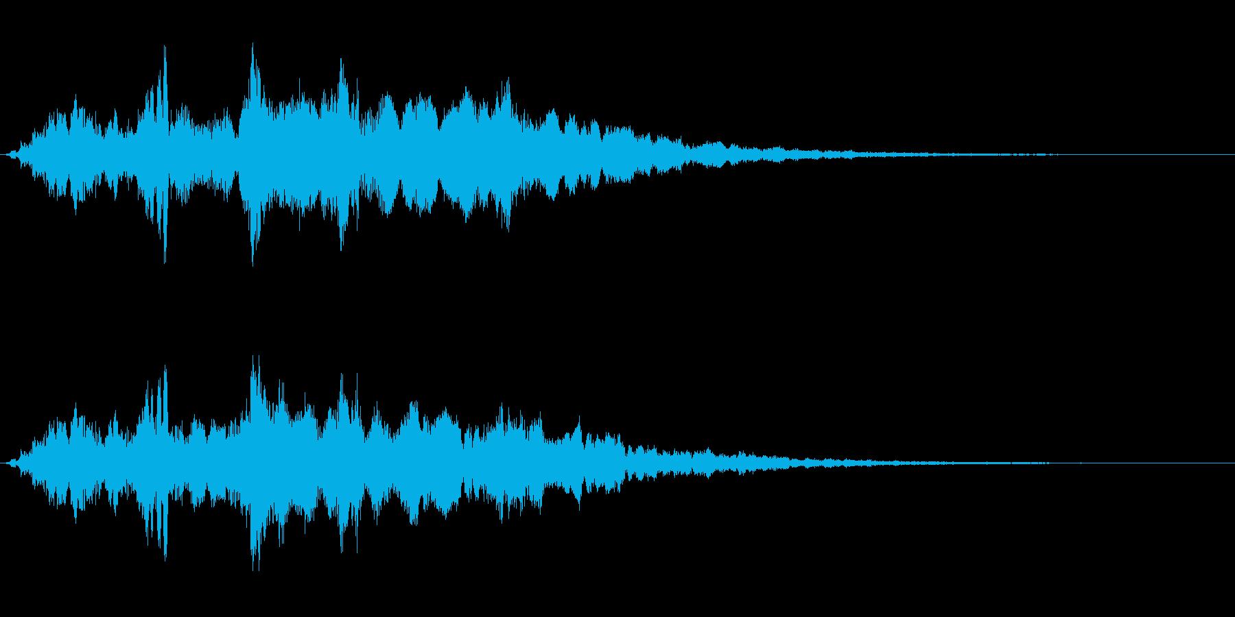 タイトルバック ホラー 11の再生済みの波形