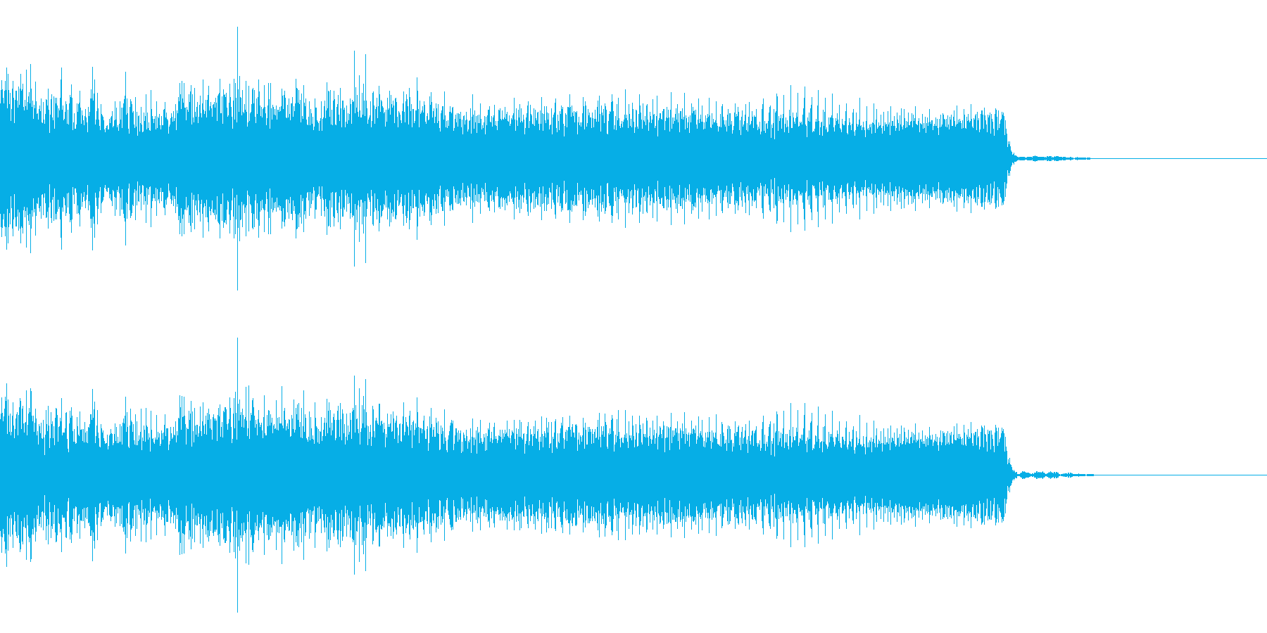 ハードロック、メタル系の場面転換の再生済みの波形