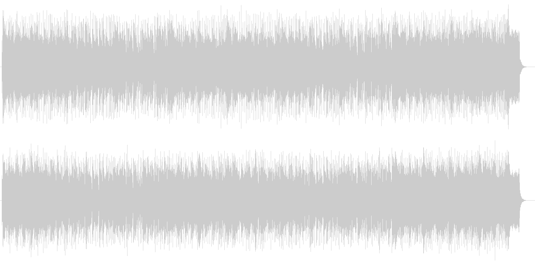 シンセサイザーを使った未来的な曲の未再生の波形