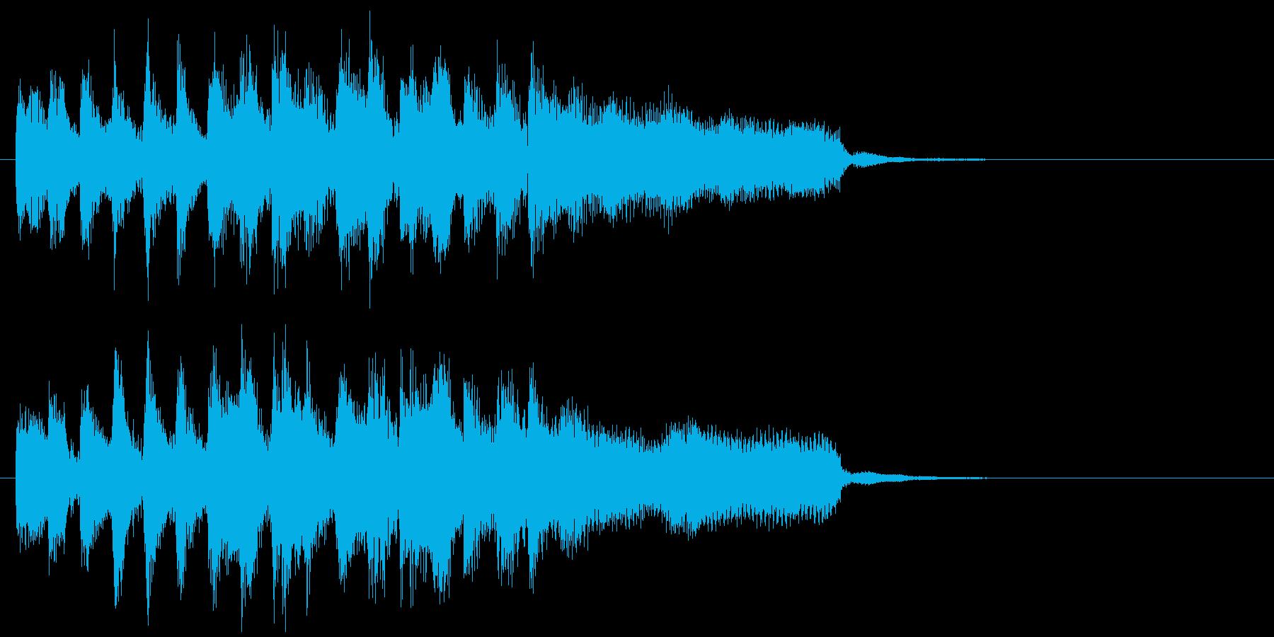 陽気でノリノリなリコーダーのアイキャッチの再生済みの波形
