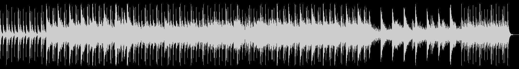 ドラムとピアノが中心のシリアスな曲の未再生の波形