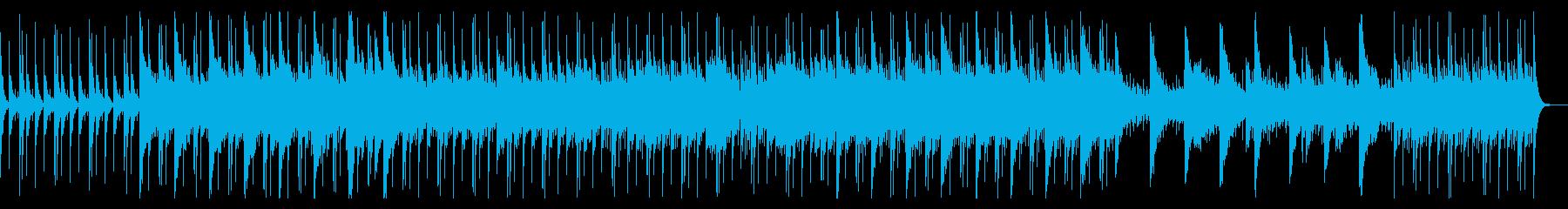 ドラムとピアノが中心のシリアスな曲の再生済みの波形