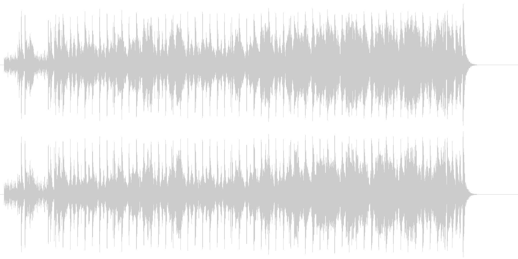 ほのぼのしたポップジャズ(イントロ~…)の未再生の波形