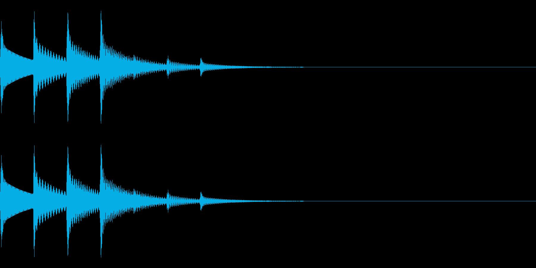 映像作品の場面転換に使用するイメージで…の再生済みの波形