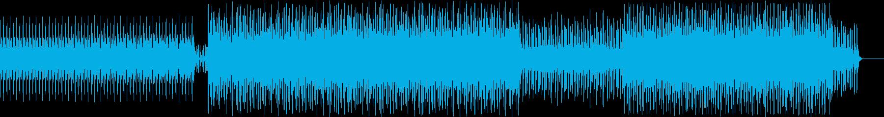 ミニマルで無機質なディープハウスの再生済みの波形
