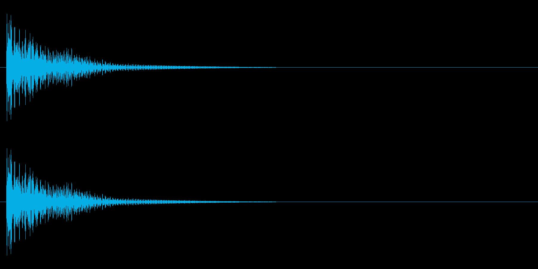 カンッ(一斗缶系金物音)の再生済みの波形