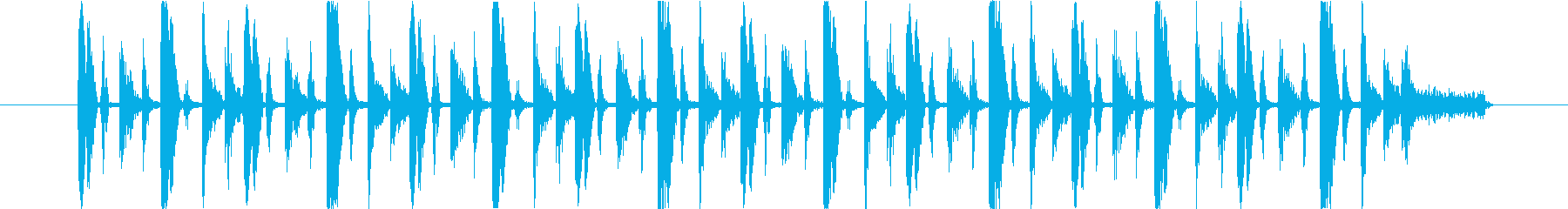 ファンキーなリズムの再生済みの波形