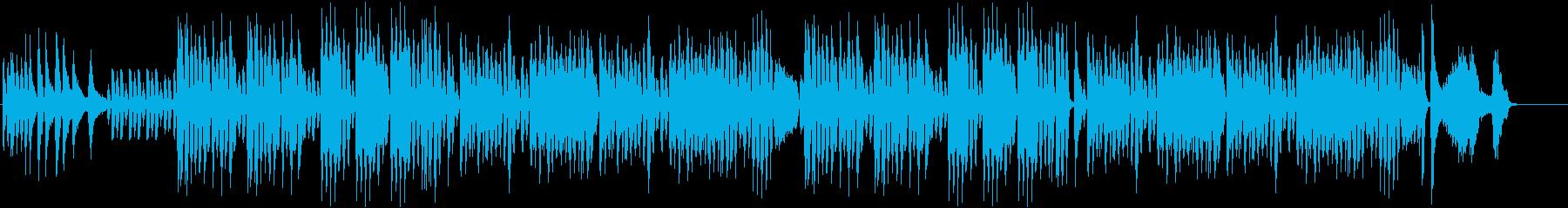 軽快で愉快なピアノの再生済みの波形