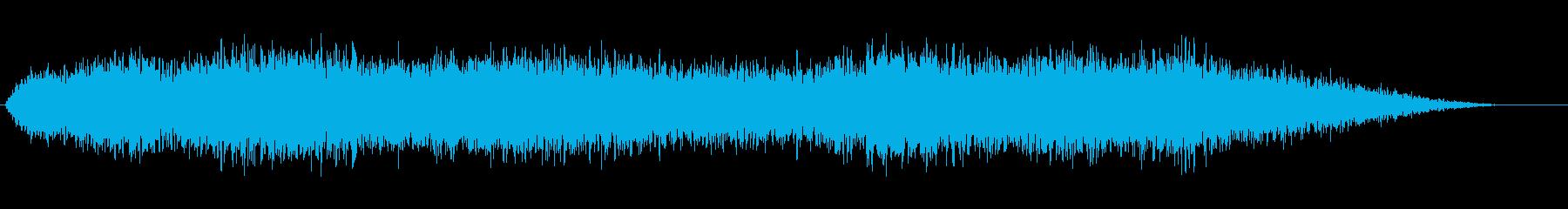 リバーブ付きベッド魔法合唱ドローンの再生済みの波形