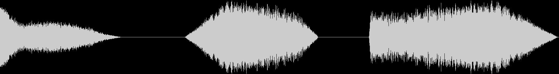 信号ノイズ、3バージョン、ラジオ、...の未再生の波形