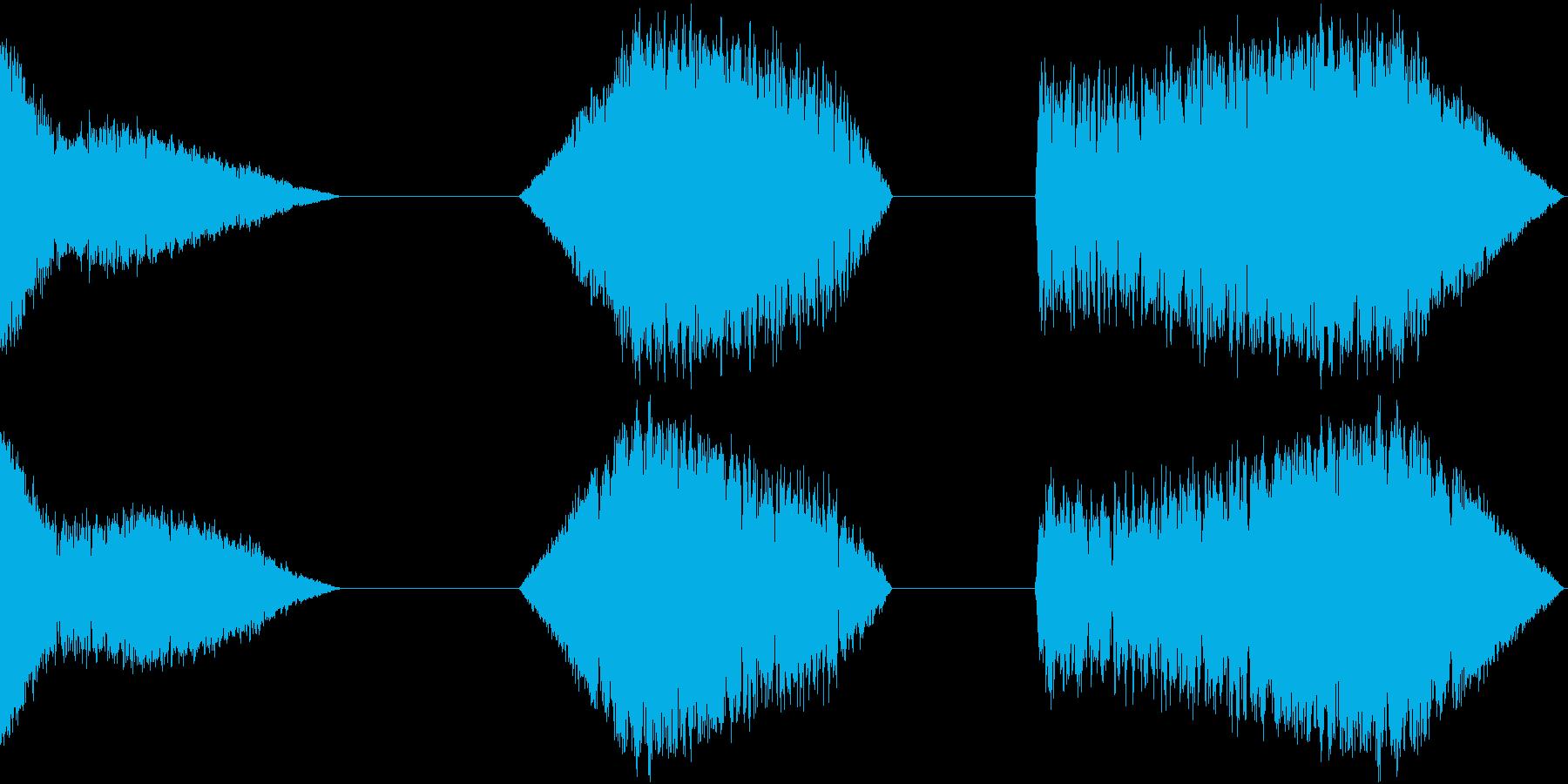 信号ノイズ、3バージョン、ラジオ、...の再生済みの波形