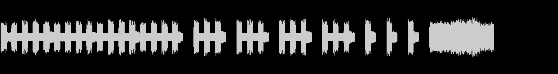 本格的ファミコンで勝利のジングルの未再生の波形