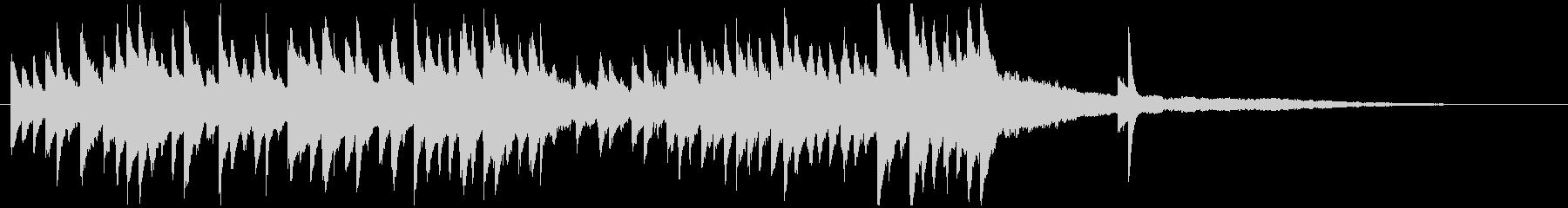 クラシックのキラキラピアノジングル美しいの未再生の波形