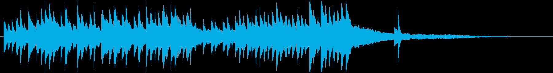 クラシックのキラキラピアノジングル美しいの再生済みの波形