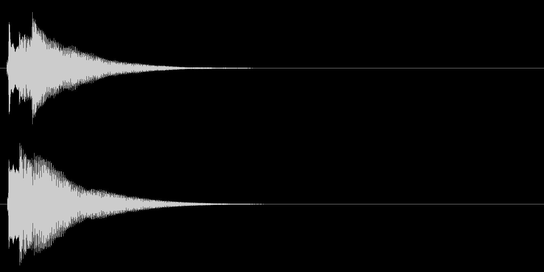 ハープ系 決定音09(長三和音)の未再生の波形