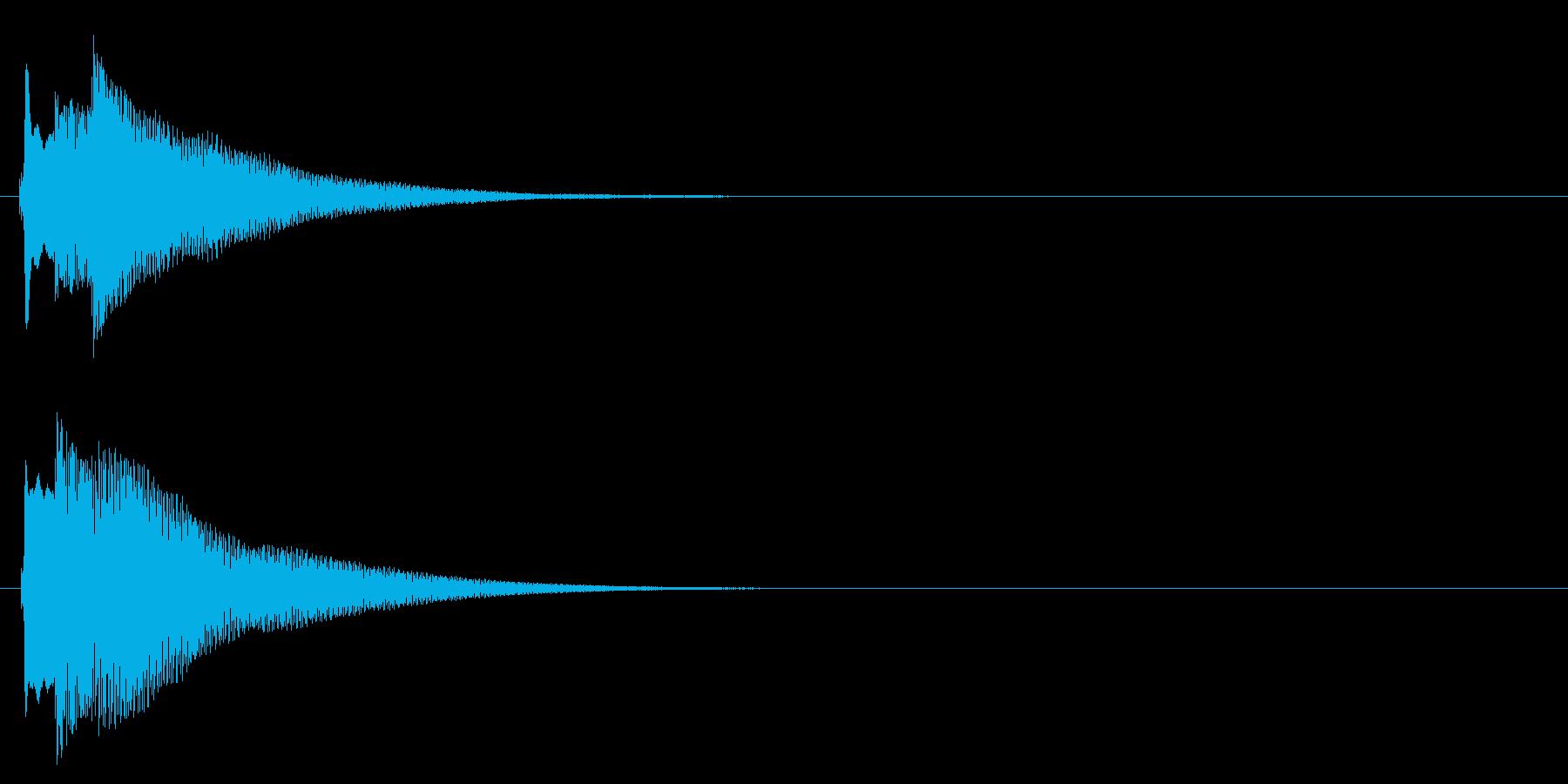ハープ系 決定音09(長三和音)の再生済みの波形