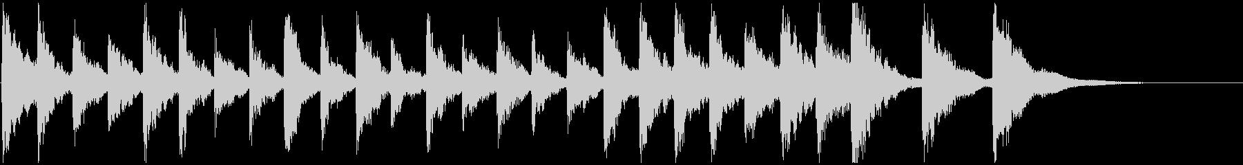 ピチカートのクラシックな短いジングル1の未再生の波形