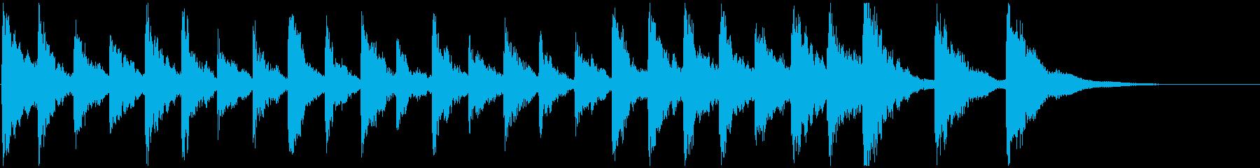 ピチカートのクラシックな短いジングル1の再生済みの波形