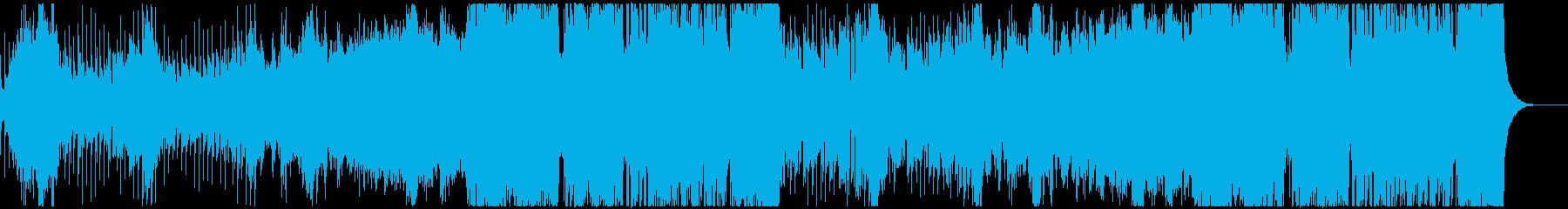 アコーディオンが印象的な日常系BGMの再生済みの波形