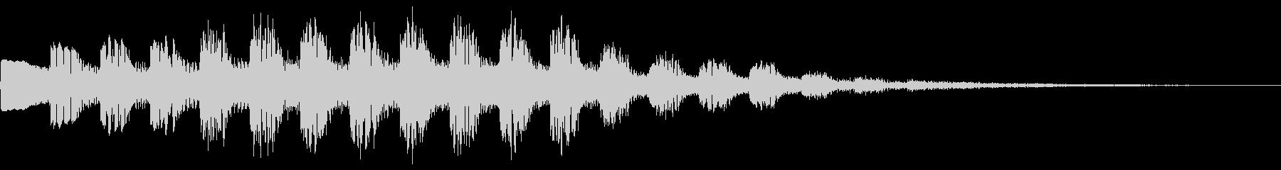 ゲーム、レベルアップ上昇音の未再生の波形