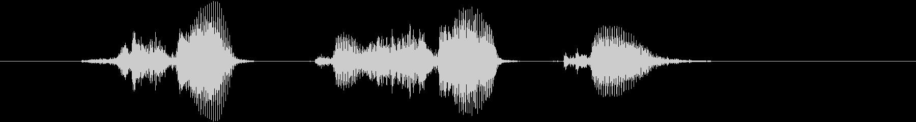 「サクサク」の未再生の波形