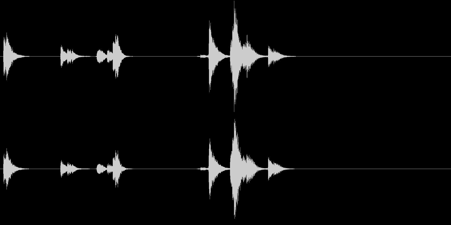 【生録音】TeaCup 食器の音 4の未再生の波形