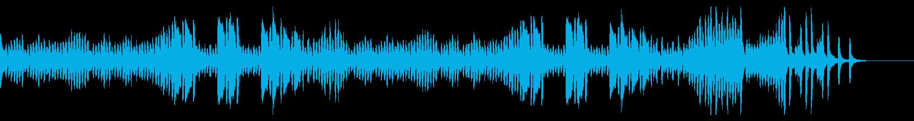 切迫した感じのピアノ曲の再生済みの波形