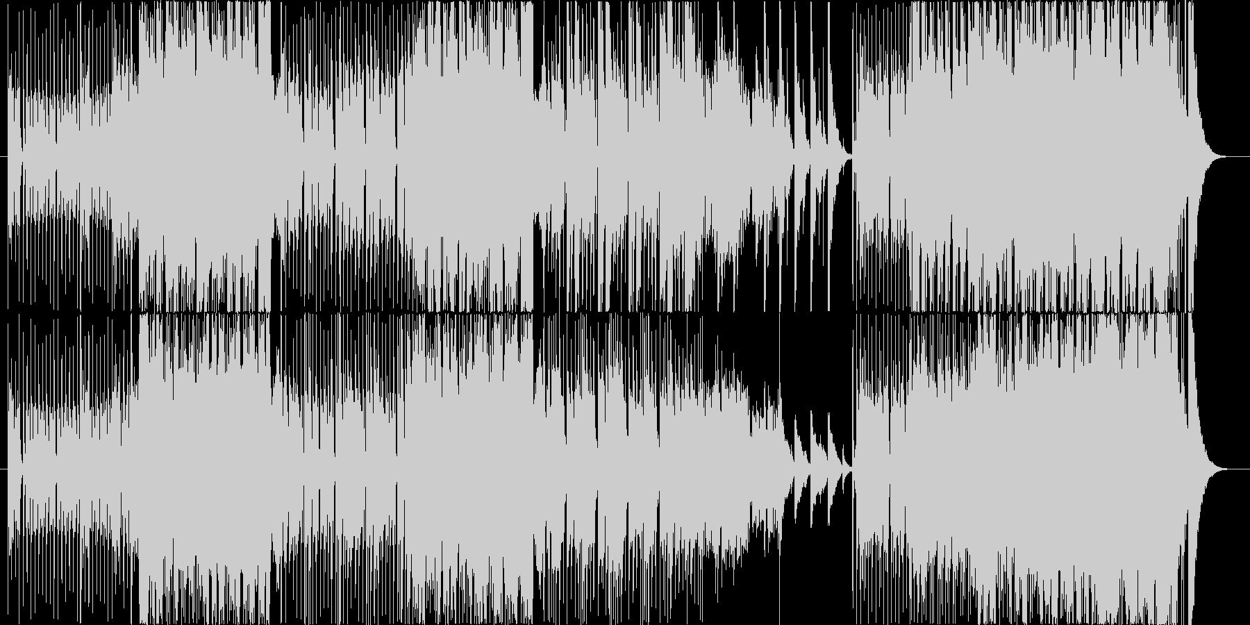 和楽器を使用したロックなサウンドトラックの未再生の波形