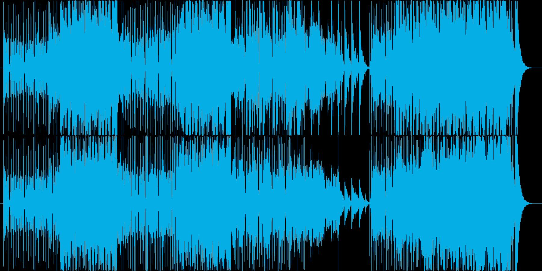 和楽器を使用したロックなサウンドトラックの再生済みの波形