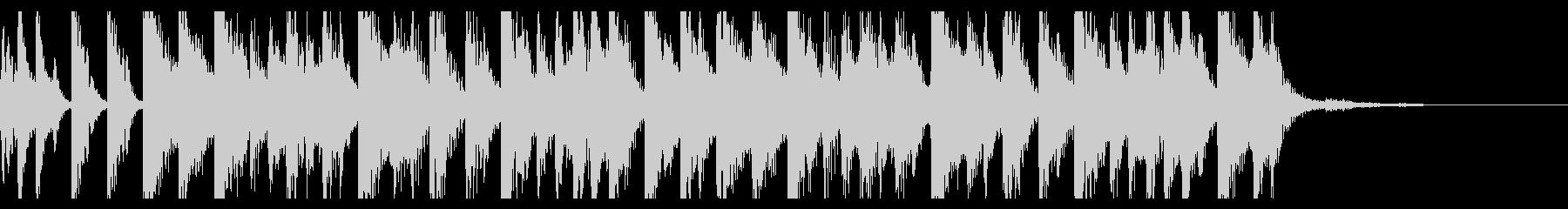 80年代ユーロビート風ジングルの未再生の波形