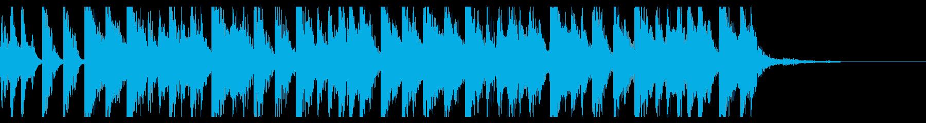 80年代ユーロビート風ジングルの再生済みの波形
