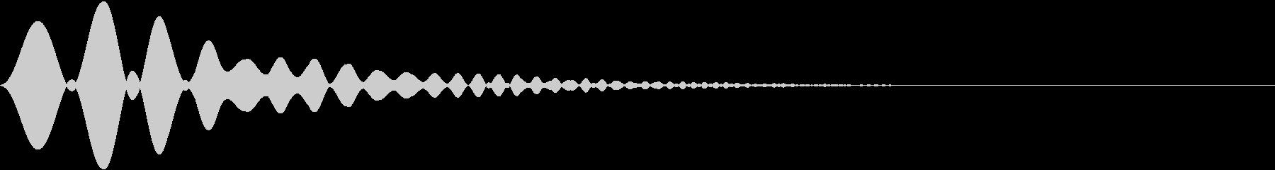 カーソル・決定・キャンセル音 「ポワ」の未再生の波形