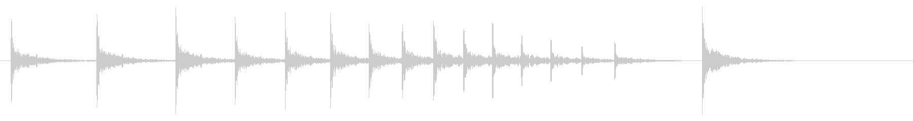 拍子木02-3の未再生の波形