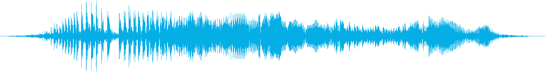 空腹でお腹がグウと鳴る音02の再生済みの波形