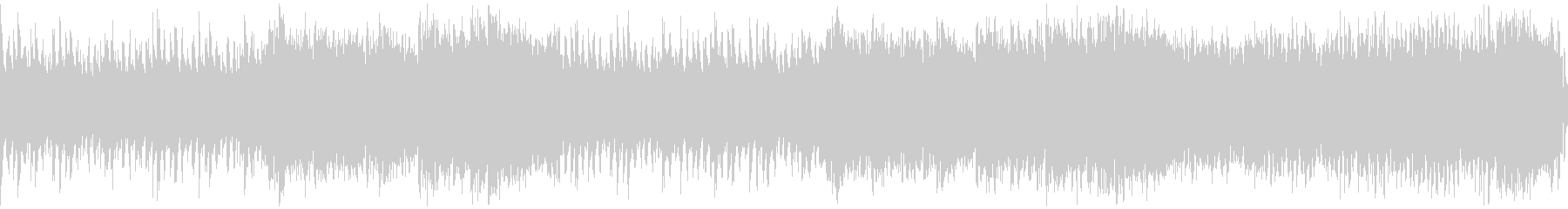スピード感のあるサイバー戦闘曲・ループの未再生の波形