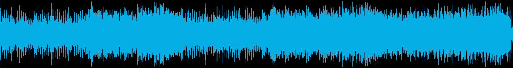 スピード感のあるサイバー戦闘曲・ループの再生済みの波形